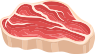 enfabebe icono dibujo carne roja, hierro