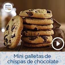Mini galletas de chispas de chocolate