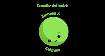 Tamaño del bebé Chícharo