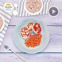 Tortilla de pollo con zanahoria