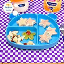Estrellitas de pan con jamón y queso